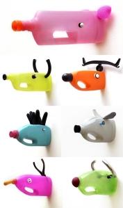 cabezas animales recibladas