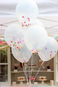 confetti en globos