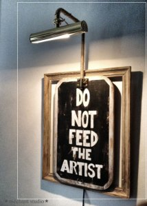 do not feed the artist