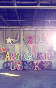 letras luces