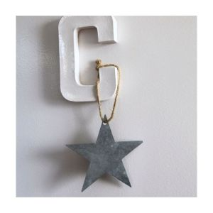estrella de zinc initialdeco