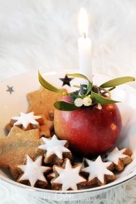 manzana y galletas