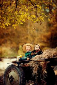 niños otoño