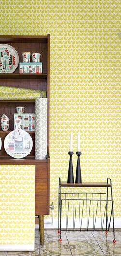papel retro amarillo bianca and family
