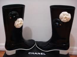 botas agua chanel