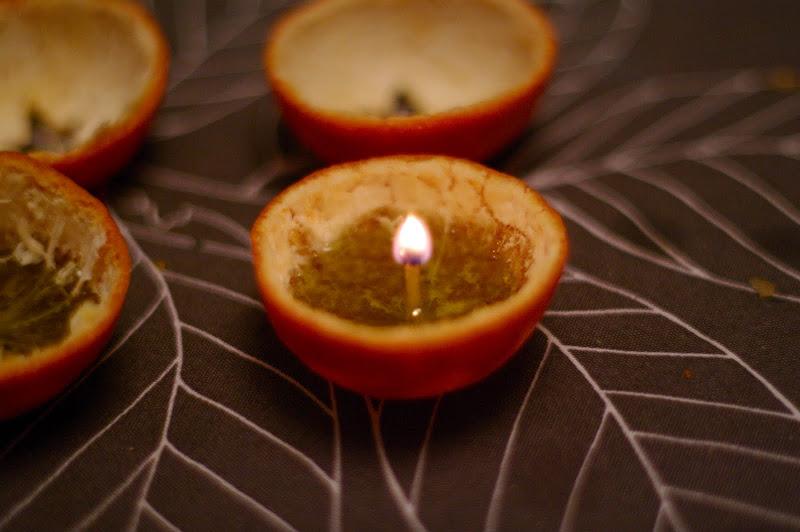 vela mandarina con estrella