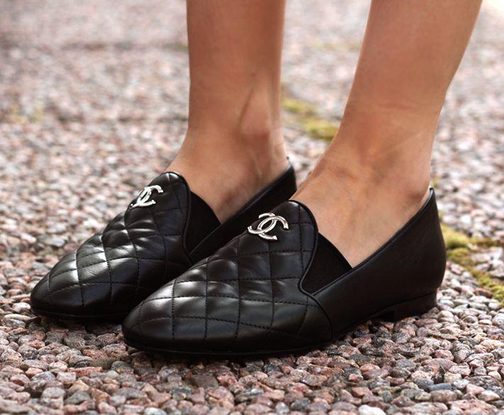 botas crochet zapatos acolchados chanel
