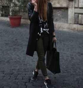 abrigo bambas y bolso
