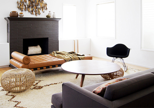 Beni-Ourain-Rug-Mid-Century-Modern-Living-Room