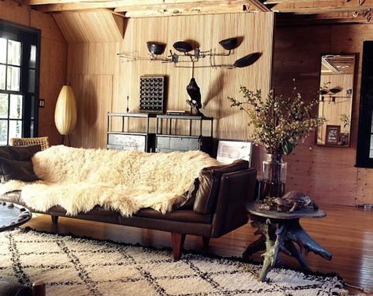 Beni-Ourain-Rug-Wood-Living-Room
