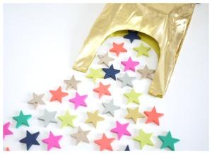 bolsa y estrellas madera