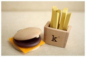 hamburguesa madera kikokids