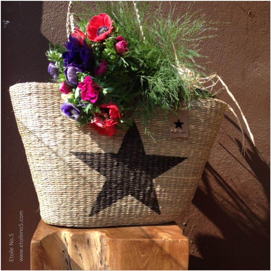 Bolso de paja con estrella