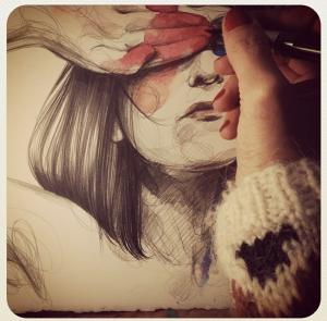 Paula bonet pintando