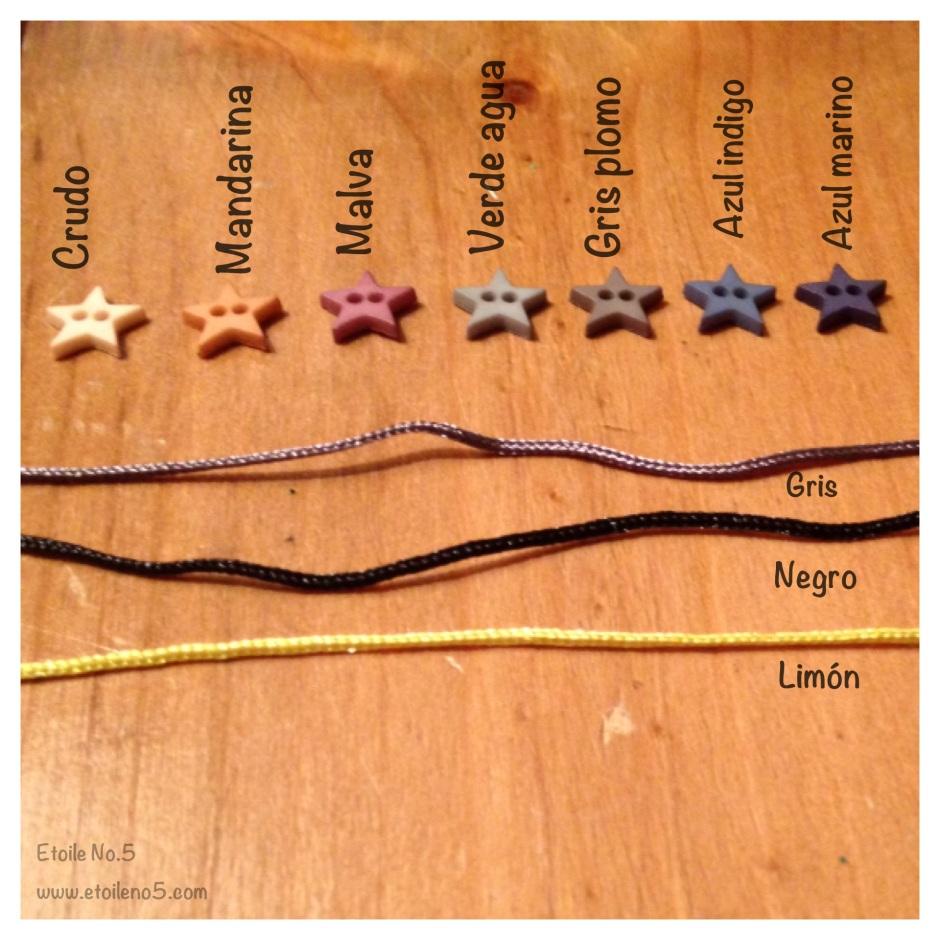colores pulsera estrella