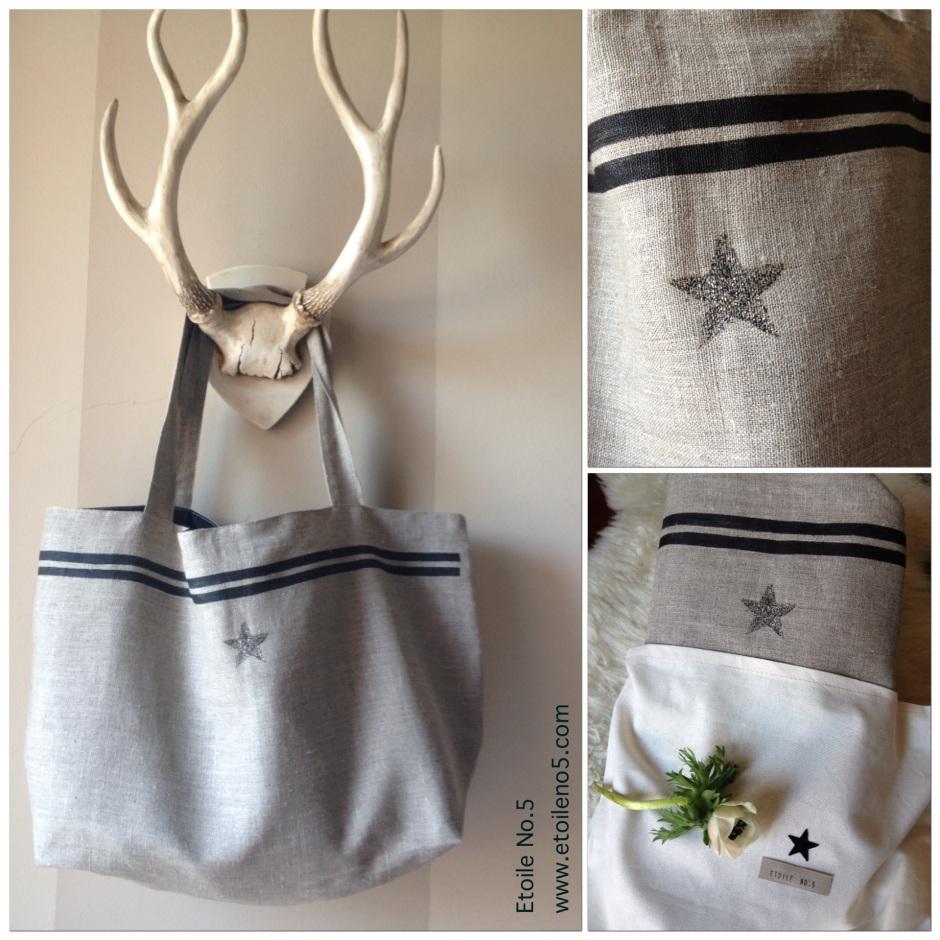 Bolsa lino con estrella Etoile No.5