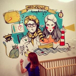 mural niños paula bonet