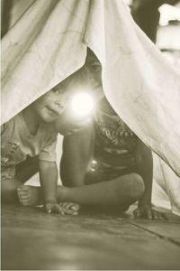 niños escondidos