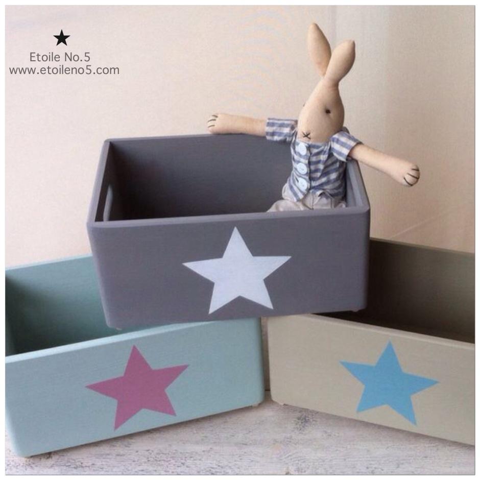 Cajas madera con estrella