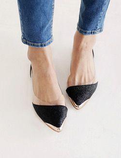 zapatos punta metal