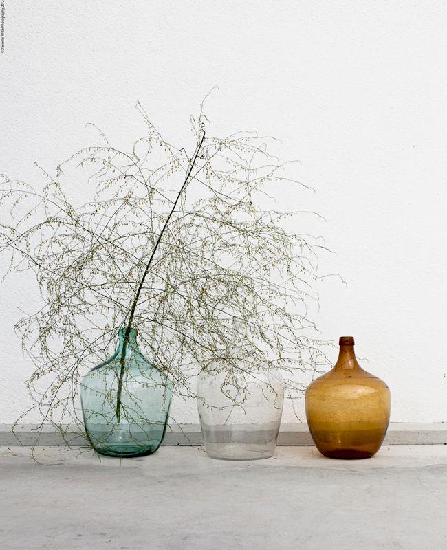 decoración con jarrones cristal2
