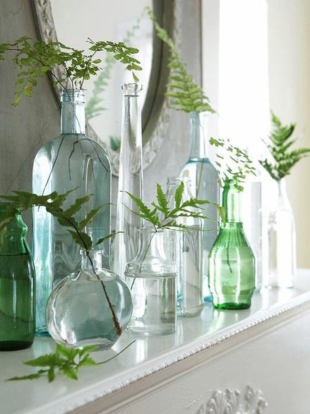 decoración con jarrones cristal4