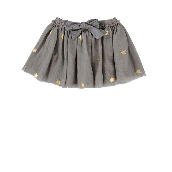 falda estrellas Stella McCartney gris