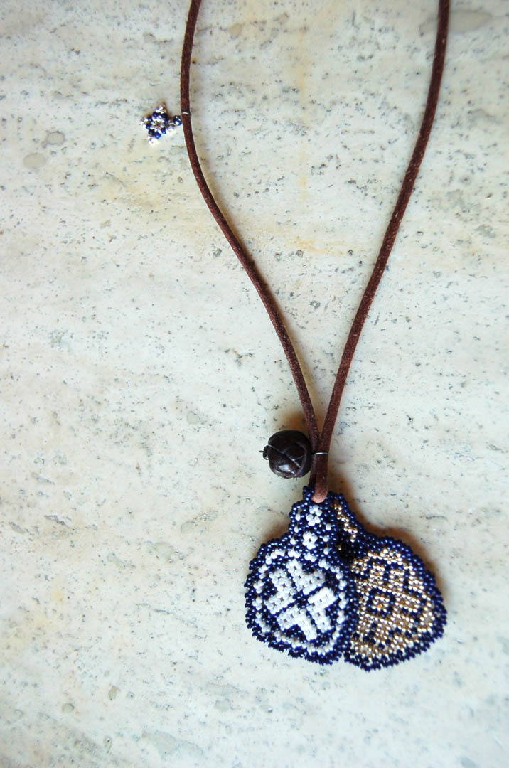 collar abalorios etnico
