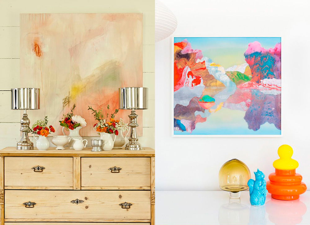 Detalles arte colorista en las paredes - Cuadros de colores ...