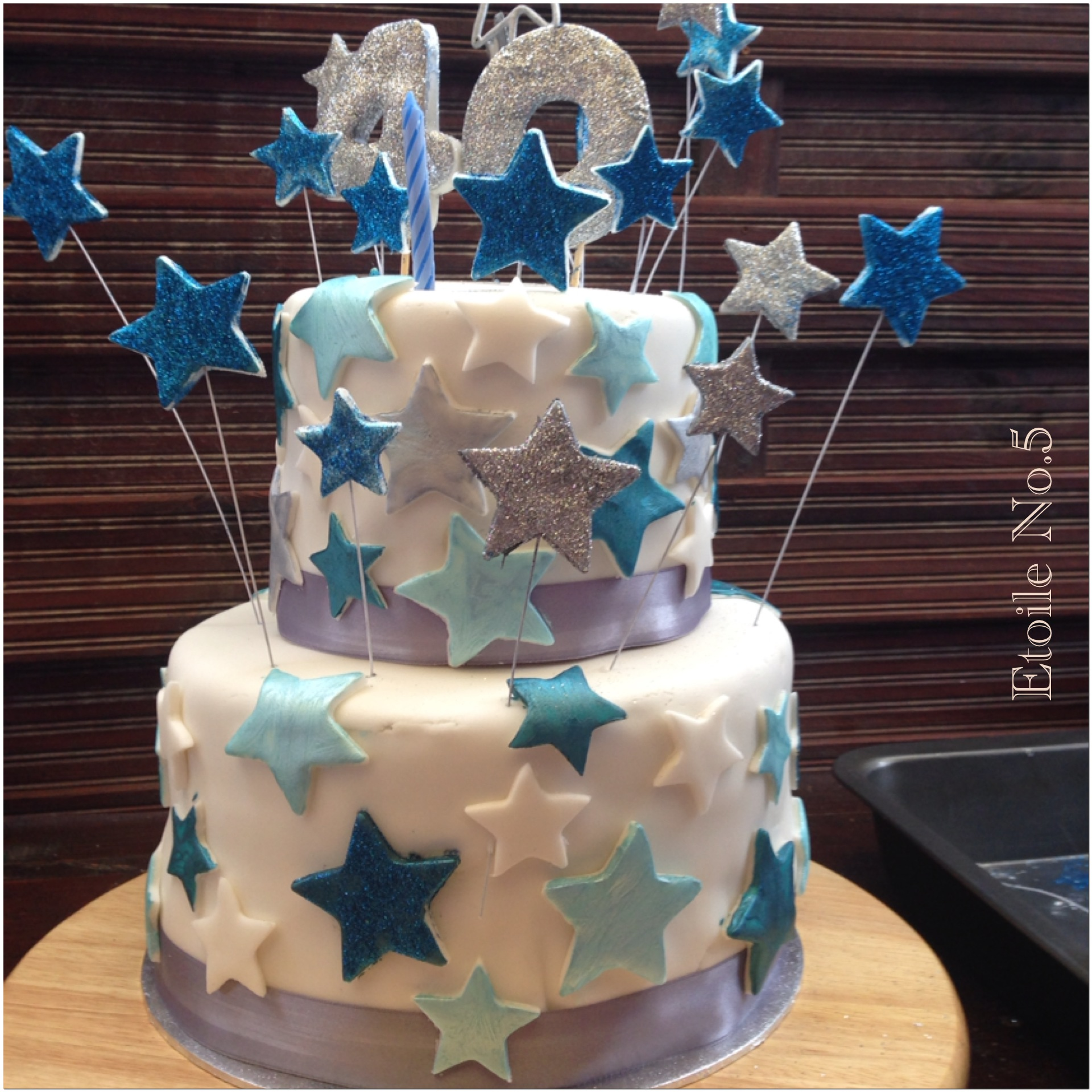 pastel estrellas
